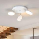 Afbeelding van 3 lichts led plafondlamp Milow in wit, Lampenwelt.com, voor woon / eetkamer, kunststof, metaal, 4.5 W, energie efficiëntie: A+, H: 17.6 cm