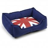 Afbeelding van Beeztees Katten Ligbed Union Jack Blauw 50x42x18cm