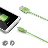 Afbeelding van Celly Utility Charge & Sync Micro USB Kabel Groen 1 Meter