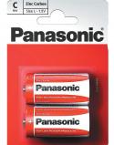 """Bilde av """"2 stk Panasonic C Zink Carbon Batterier"""""""