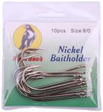 Image de 10 pièces Night Hawk Nickel Baitholder Hameçons mer (choix entre 4 options)