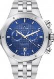 Afbeelding van Edox 10110 3M BUIN herenhorloge blauw edelstaal