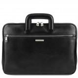 Imagine din Document Leather briefcase Black