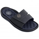 Afbeelding van Cartago Santorini Slide Slippers Black Dark Grey Blue EU 43