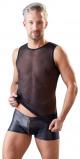 Afbeelding van 3 Delige Wetlook String Set, Zwart Van Svenjoyment Underwear