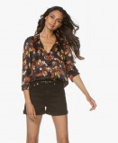 Obrázek ba&sh Blouse Black Ava Burn out Floral Printed