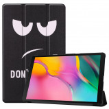 Afbeelding van 3 Vouw cover hoes Samsung Galaxy Tab A 10.1 inch (2019) Don't Touch