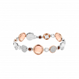 Image of TI SENTO Milano Bracelet Pink Silver Rose Gold Plated 2902TP