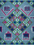 Zdjęcie Vlisco VL00017.288.04 Blue African print fabric Wax Hollandais Decorative