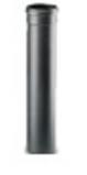 Afbeelding van Artel afvoerbuis enkelwandig Ø80mm L:100cm tbv pelletkachel zwart