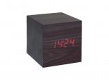 Afbeelding van SoundLogic LCD Houten Wekker / Meervoudig alarm Kubus