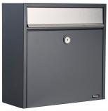 Image of Allux 250 mailbox (Colour: silver/anthracite)