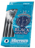 Afbeelding van Harrows Black Arrow Steeltip dartpijlenset (Gewicht pijl: 19 gram)