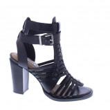 Afbeelding van Bronx Hayden leren sandalettes zwart