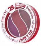 Afbeelding van 2b Oogschaduw trio eye shadow 06 taupe pink burgundy 1 Stuk