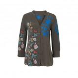 Afbeelding van Desigual blouse met borduursels groen multi