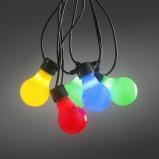 Afbeelding van Konstmide CHRISTMAS kleurrijke LED biertuinketting matte gloeilampen, kunststof, energie efficiëntie: A+, L: 1950 cm
