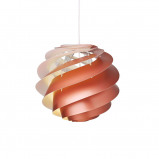 Afbeelding van LE KLINT le Swirl 3 Small hanglamp, koper, voor woon / eetkamer, kunststof, E14, 4 W, energie efficiëntie: A++, H: 30 cm