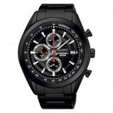 Afbeelding van Seiko SSB179P1 Chrono horloge herenhorloge Hoge Marge Zwart