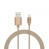 Afbeelding van BeHello Charge and Synch Cable Lightning 1m Braided Gold
