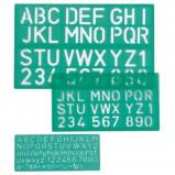 Afbeelding van Linex lettersjabloon set met 3 stuks, in een ophangetui