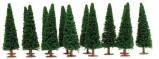 Billede af 14 stk. grantræer H0 Model Power