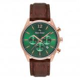 Afbeelding van Mats Meier Grand Cornier Chrono Groen/Rosegoudkleurig horloge MM00114