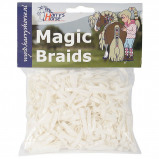 Image de Bandes de caoutchouc Harry's Horse Magic Braids (Couleur: blanc)