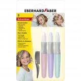 Afbeelding van eberhard faber EF 579202 Haarkrijt 3 Stuks Roze, Paars, Turquoise