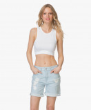 Image of Drykorn Top Samia Cropped Sporty White