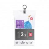 Afbeelding van SimpleHuman Afvalzakken Code V 16 18 liter Pocket Liners Set van 3x20 Stuks