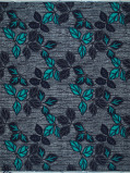 Abbildung von Vlisco VL01370.005.06 Blue African print fabric Wax Hollandais Nature