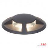 Afbeelding van aeg Tritax LED grondspot inbouwlamp, vierzijdig, aluminium, kunststof, glas, 3 W, energie efficiëntie: A+, H: 2 cm