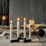 Billede af Adventsstage lysestage i sort støbejern