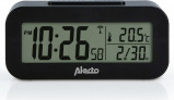 Image of Alecto AK 30 alarm clock with thermometer (Colour: black)
