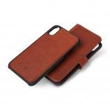 Afbeelding van Decoded 2 in 1 Wallet Case iPhone Xs Max Bruin