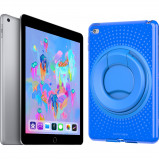 Afbeelding van Apple iPad (2018) 32 GB Wifi + Tech21 Evo Back Cover Blauw tablet