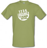 Imagine din 1234 I Declare A Thumb War male t shirt.