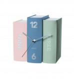 Afbeelding van Karlsson Book Tafelklok 15 x 20 cm Blauw/Groen/Roze