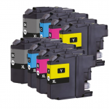 Afbeelding van Compatible 2x Brother LC 123 XL Multipack (inktcartridges) Alleeninkt