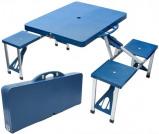 Afbeelding van Betaalbaarshoppen Benson inklapbare picknicktafel blauw 4 persoons