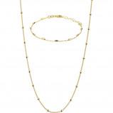 Obrázek Selected Jewels 925 Sterling Zilveren Goudkleurige Lily Armband en Collier Set SJSET2100897