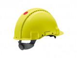 Afbeelding van 3M Peltor G3000NUV GB Veiligheidshelm met draaiknop Geelgroen Plastic sweatband
