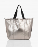 Bilde av Filippa K Shopper Soft Sport Metallic in Nickel Grey Metallic