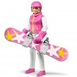 Afbeelding van Bruder 60420 Snowboarder met Accessoires 1:16