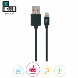 Afbeelding van BeHello Charge and Synch Cable Lightning 1.2m Black