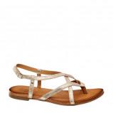 Afbeelding van 5th Avenue leren sandalen goud