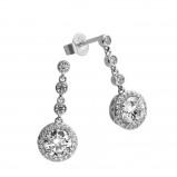 Afbeelding van Diamonfire 808.0159.00 Oorhangers Bridal zilver met zirconia
