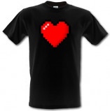 Imagine din 16 Bit Heart male t shirt.
