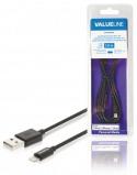 Afbeelding van Data en Oplaadkabel Apple Lightning USB A Male 2 meter zwart